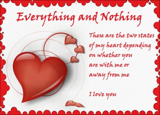 Valentines Day Quotes For Couple Everything And Nothing Is Look Similiarly Because My Love Is