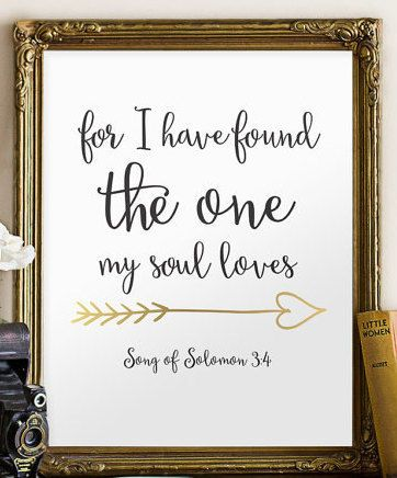 Wedding Bible Verse Art Print Scripture By Twobrushesdesigns Weddingquotes