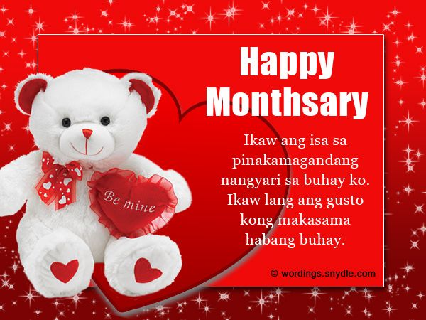 Share This On Whatsapphappy Monthsary Messages In Tagalog Its A Month After You Decided To Seal The Relationship With Commitment While It May Se
