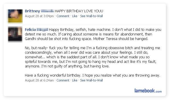 Funny Happy Birthday Facebook Posts