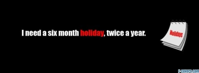 Funny Holiday Quote Facebook Cover