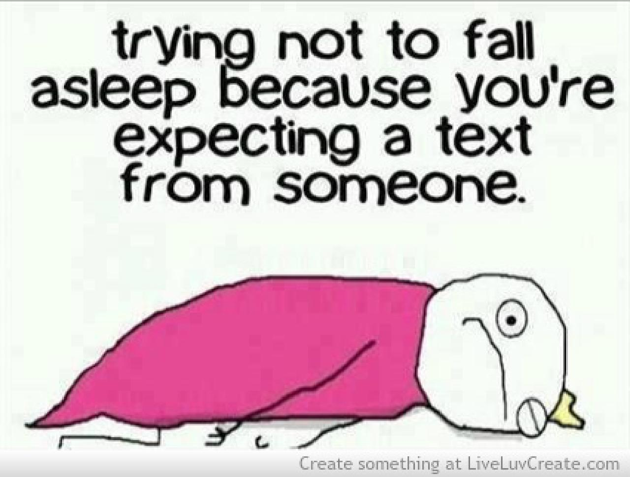Trying Not To Fall Asleep Funny Quote