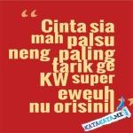 Kata Kata Cinta Bahasa Sunda Lucu