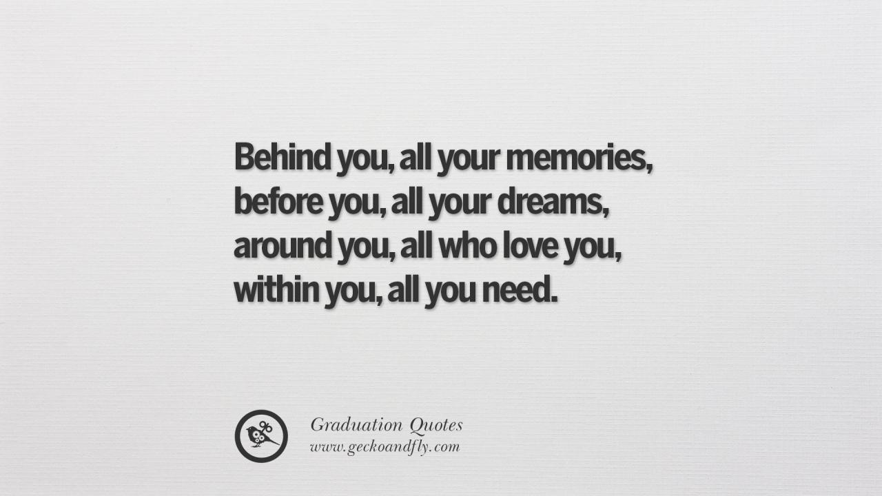 Behind You All Your Memories Before You All Your Dreams Around You All Who Love You Within You All You Need