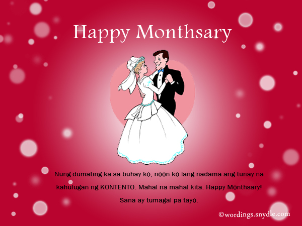 Happy Monthsary Messages In Tagalog