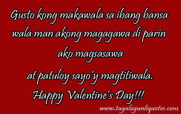 Love Quotes Valentines Day Tagalog Hover Me Cool Tagalog Quotes About Love And Friendship