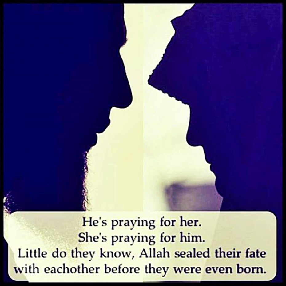 Muslim Quotes About Love And Peace He Is Praying For Her And She Is Praying