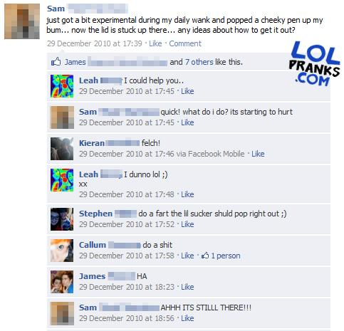 Hilarious Status Update F On Guys Hacked Account