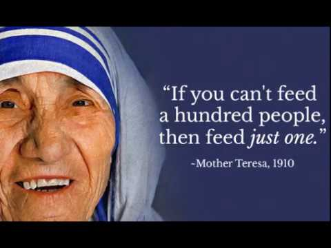 Mother Teresa Quotes About Humanity Love Care Kindness Charity Service Great Quotes