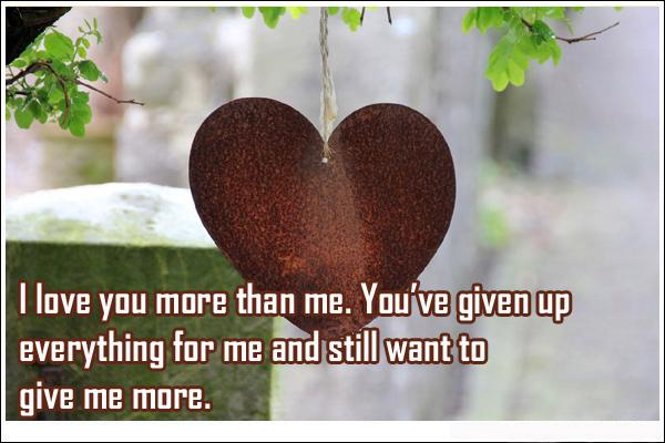 I Love You More Than Quotes I Love You More Than Me