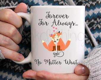 Fox Coffee Mug Valentine Coffee Mug Inspirational Fox Mug Love Quote Coffee Mug