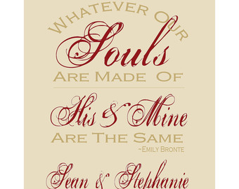 W Ver Our Souls Are Made Of Custom Love Quote Personalized En Ement Wedding