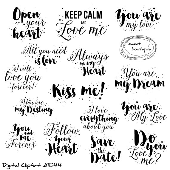 Love Clipart Love Quote Valentines Day Clipart Quotes Love Printable Love Quotes Valentines Clipart Wedding Clipartlove Clip Art