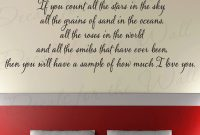 Quotes On Love And Marriage New Count Stars I Love You Bedroom Family Wedding Marriage Large