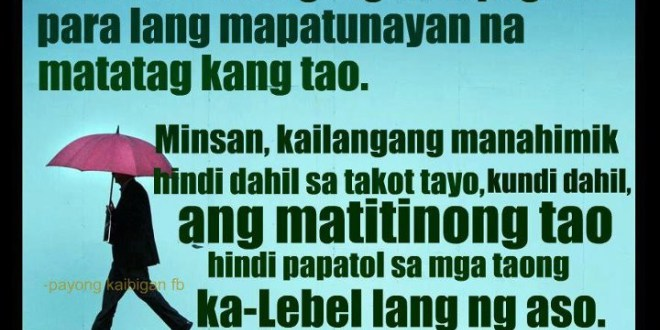 Inspirational Life Quotes Tagalog Best Of Filipino Quotes About Life
