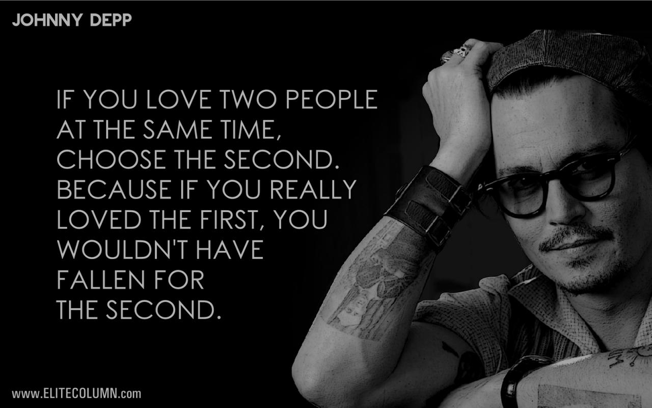 Johnny Depp Love Quotes Johnny Depp Quotes About Love The Best Love