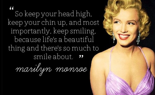 Marilyn Monroe Quotes And Smile Image