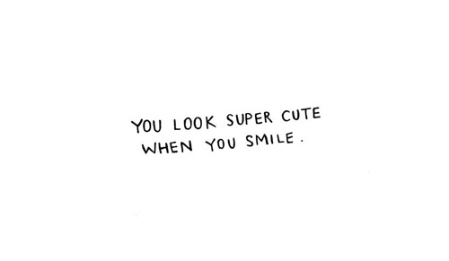 Smile Cute And Quotes Image
