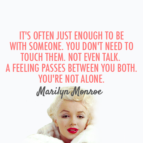 Marilyn Monroe Quote And Love Image