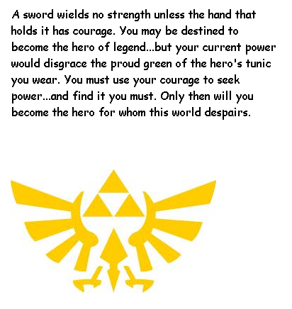 Legend Of Zelda Quote Heros Shade By Crazysonicfan