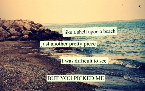Like A Supon A Beach Just Another Pretty Piece I Was Difficult To See