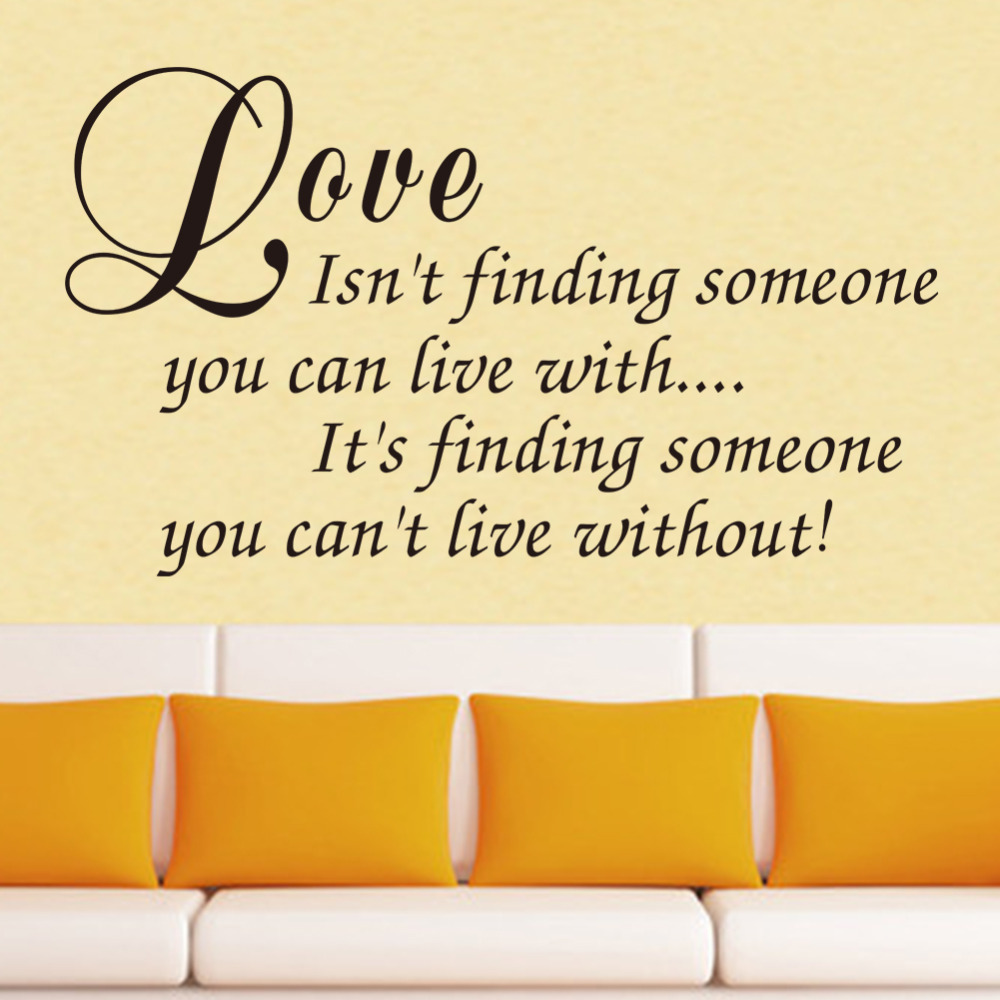 Love Isnt Finding Wall Decals Love Quotes Romantic Love Messages ...