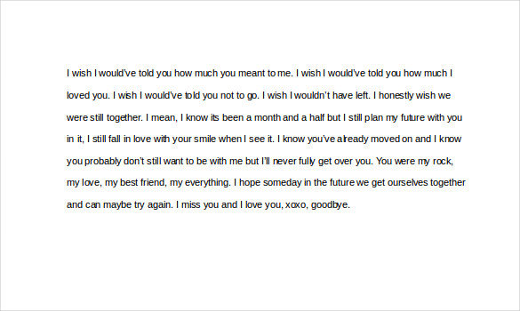 Love Letters For E Friend Word Format