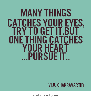 Viju Chakravarthy Picture Quotes Many Things Catches Your Eyes Try To Get It