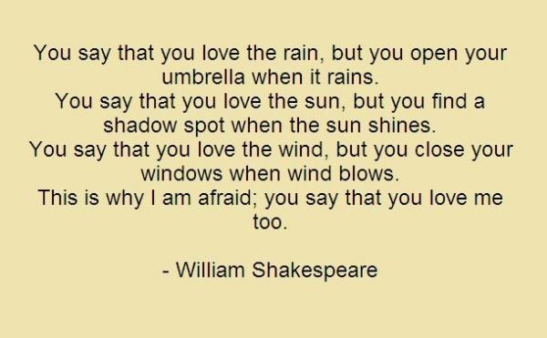 Shakespearean love quotes
