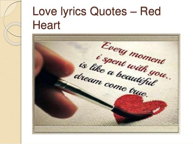 Love Lyrics Quotes Red Heart