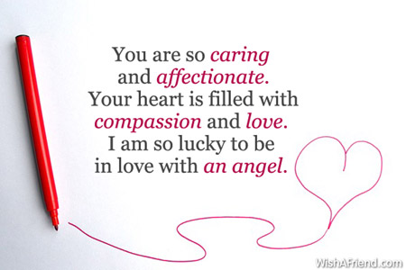 Love Quotes For Wife You Are So Caring And Affectionate Your Heart Is Filled With Comp Ion