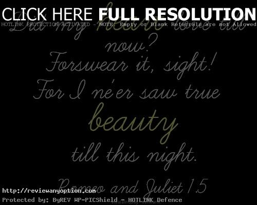 Love Quotes From Romeo And Juliet Prepossessing Quotes From Romeo And Juliet Love Quote Romeo And
