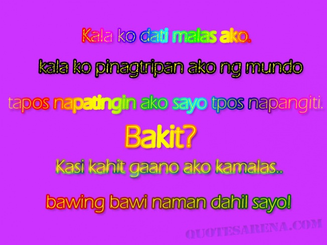 Love Quotes Jokes Graphics Tagalog Quotes Love Quotes