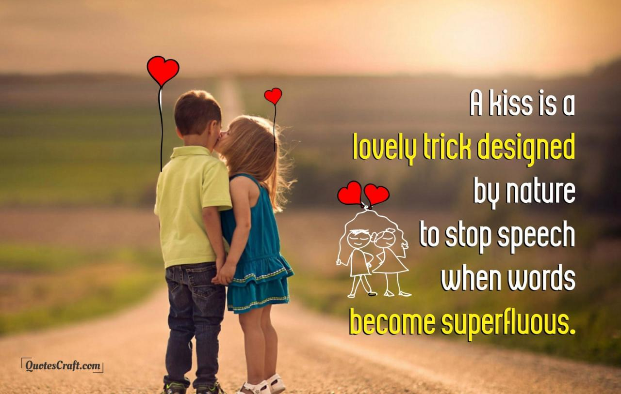 Lovely Kiss Cute Couple Quotes Most Romantic Quotes