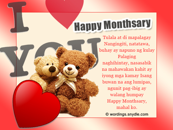 Love quotes for 1st monthsary tagalog hover me monthsary quotes m4hsunfo