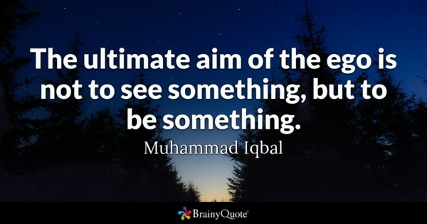 The Ultimate Aim Of The Ego Is Not To See Something But To Be Something