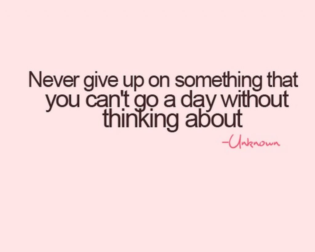 Never Give Up On Something You Love Quotes Hover Me