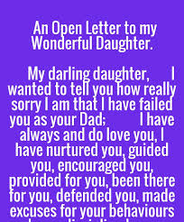 open letter wonderful my darling wanted really sorry that failed i love my daughter quotes guided