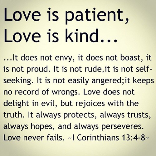 Patient And Kind Bot Envy Boast Proud Love Quotes From Bible Rude Seeking Easily Keeps Evil