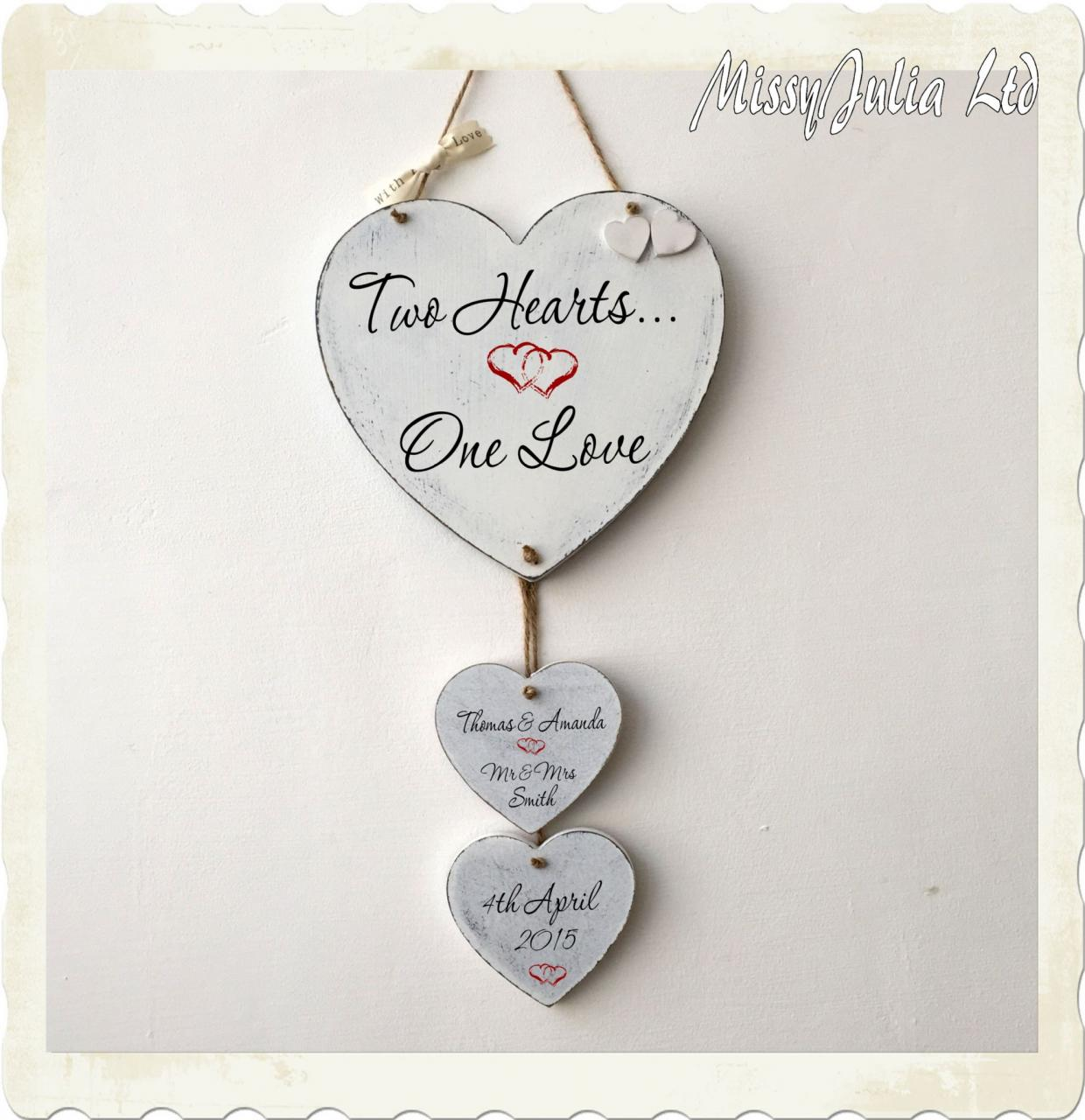 Personalised Wedding Anniversary Love En Ement Heart Love Plaque Sign W