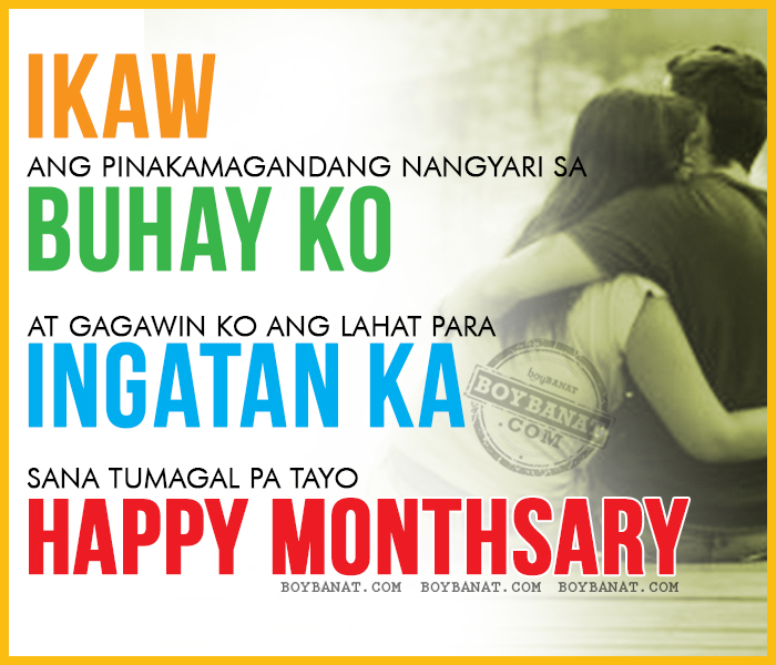 Tagalog Happy Monthsary Quotes And Monthsary Sayings