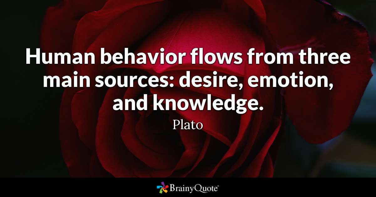 Human Behavior Flows From Three Main Sources Desire Emotion And Knowledge