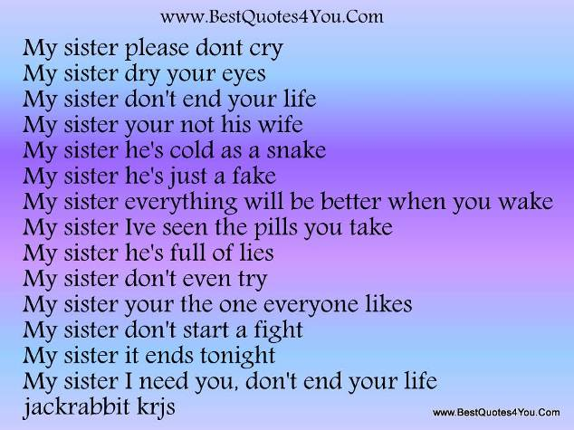 Sisterly Love Quotes And Poems The All Time Best Quotes About Sisters