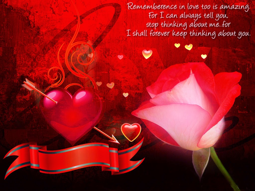 Red Rose Theme Hd Wallpaper With Love Quotes