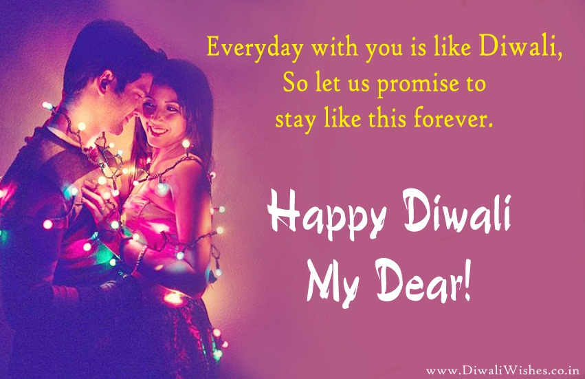 Cute Romantic Happy Diwali Wishes For Lover In English With Images