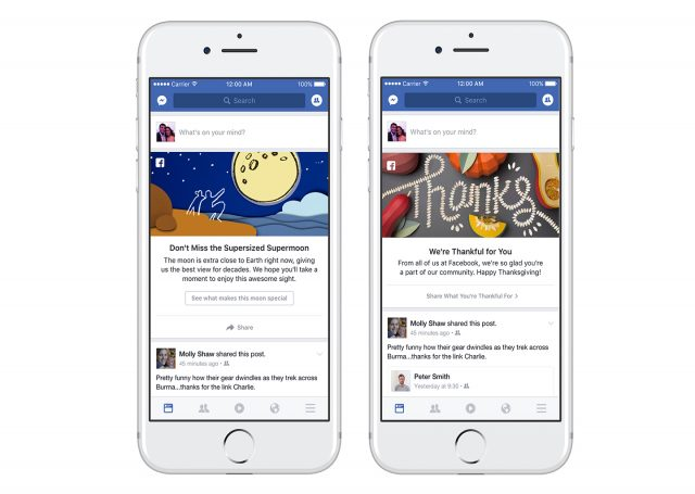 Screenshots Showing Recent Examples Facebooks Shareable News Feed