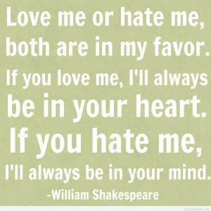 Best of Shakespeare Quotes On Love And Hate