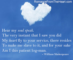 Hear My Soul Speak The Very Instant That I Saw You Did My Heart Fly