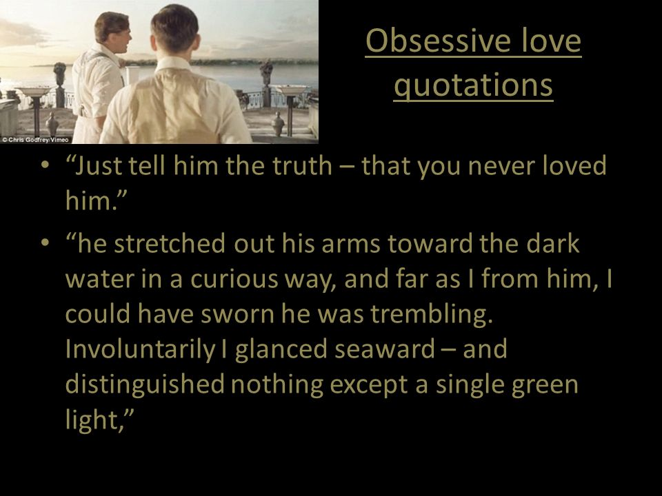 Obsessive Love Quotations