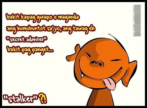 Stalker May Nag Text Funny Tagalog Quotes Jokes And Humor